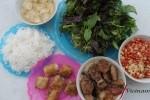 Hanoi food bun cha