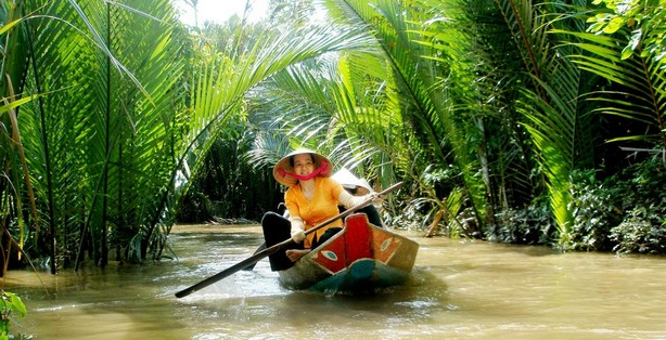 Life in the Mekong Delta revolves much around the river, and many of the villages are often accessible by rivers and canals rather than by road.