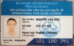 Vietnam tour guide in Hanoi mister Nguyen Van Duc