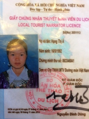 Book Sapa local tour guide Hang Thi A with Vietnam tour package