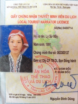 Sapa local tour guide Ly Su May working with Vietnam tour company