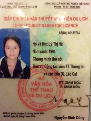 Book Sapa tour guide Ly Thi Ha with Vietnam tour company