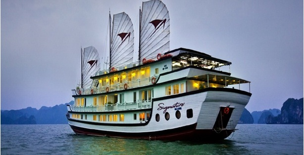 Halong Signature Cruise deck plan with cruise layout