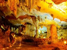 Thien Canh Son cave in Bai Tu Long bay