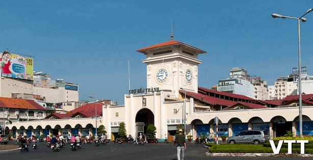 Ben Thanh center market is one of places to visit in Saigon Ho Chi Minh city