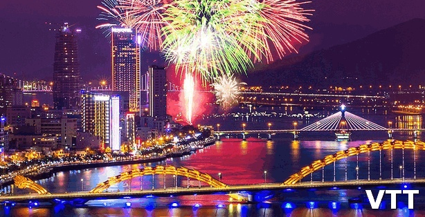 Danang fireworks Festival annually takes place