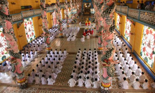 Caodaism Temple is a place not to be missed when visiting Ho Chi Minh city